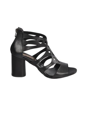 Maje 9837 Pudra Kadın Topuklu Ayakkabı Siyah